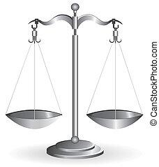 blanc, balance équilibre, isolé