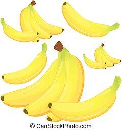blanc, banane, fond