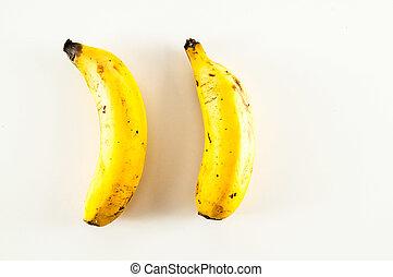 blanc, banane, fond, une