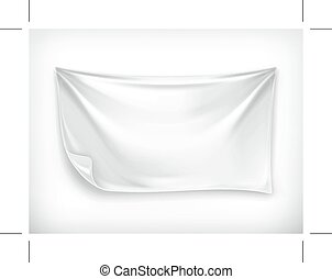 blanc, bannière, illustration
