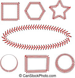 blanc, base-ball, dentelle, fond