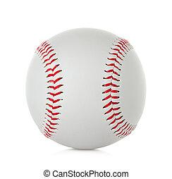 blanc, base-ball, isolé, fond