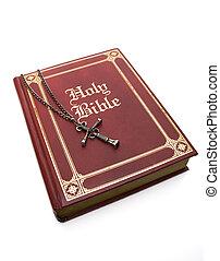 blanc,  bible, rouges