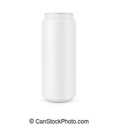 blanc, boîte, aluminium, template.