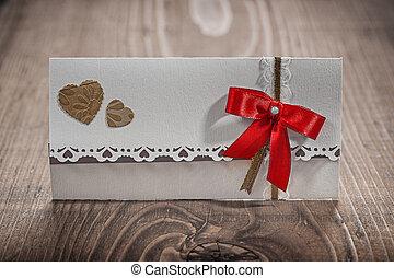 blanc, bois, carte, invitation, mariage