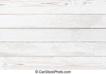 blanc, bois, planches, fond