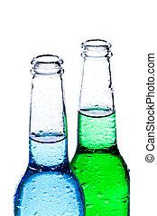 blanc, boissons, isolé, alcoolique