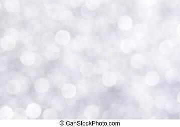 blanc, bokeh, fond