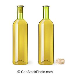 blanc, bouteille, vin