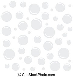 blanc, bulles, fond
