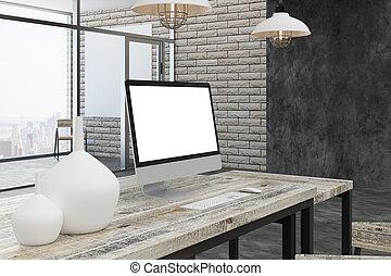Ville salle décoration noël blanc vide vue