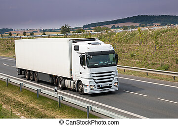 blanc, camion