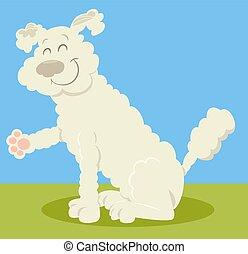 Sourire caniche dessin anim sourire chien happy - Caniche dessin ...