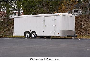 blanc, caravane