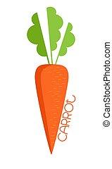 blanc, carotte, fond