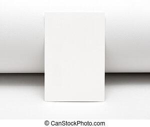 blanc, carte, vide
