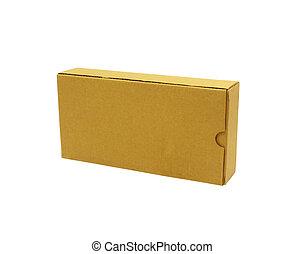 blanc, carton, isolé, boîte