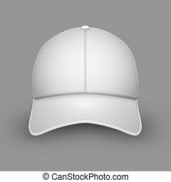 blanc, casquette, base-ball, vide