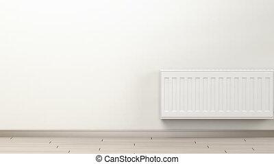 blanc, chauffage, radiateur