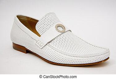 blanc, chaussure