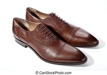 blanc, chaussures hommes, fond