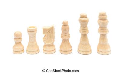 blanc, chesses, alignez-vous, fond