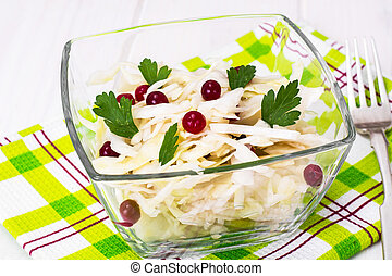 blanc, choucroute, fond, canneberges