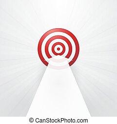 blanc, cible, flèche, rouges