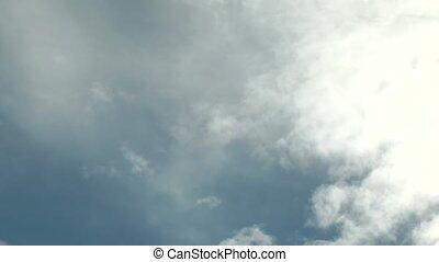 blanc ciel bleu, nuages