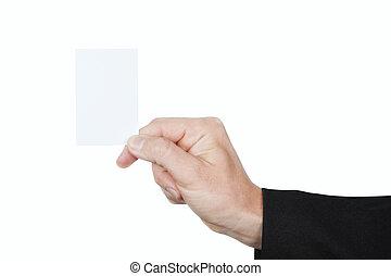 blanc, closeup., carte, fond, vide