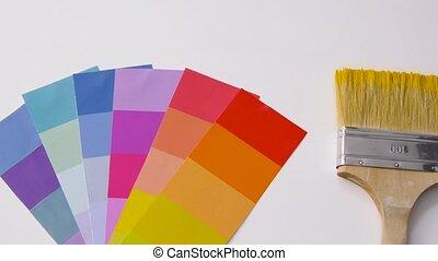 blanc, colorez palette, pinceau, fond