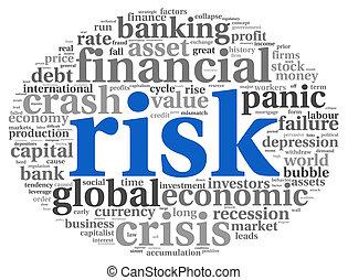 blanc, concept, économie, risque, finance