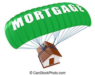 blanc, concept, isolé, hypothèque