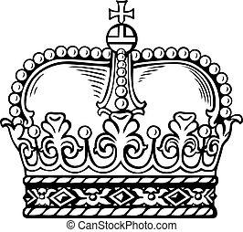blanc, couronne