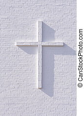 blanc, croix
