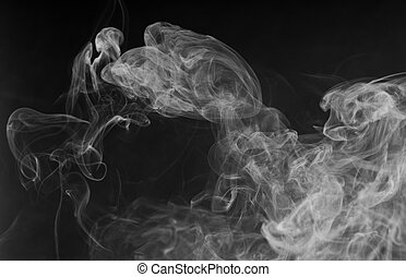 blanc, dense, fumée