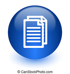 blanc, document ordinateur, fond, icône