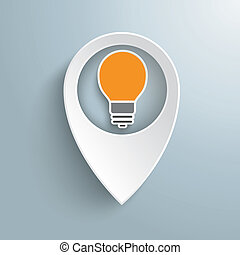 blanc, emplacement, marqueur, ampoule