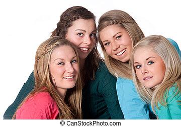 blanc, filles, 4