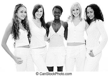 blanc, filles