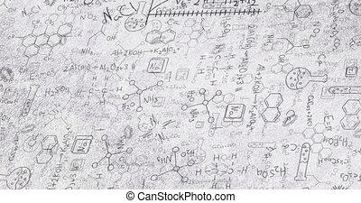 blanc, formulae, structural, noir, chimique, animation, composés
