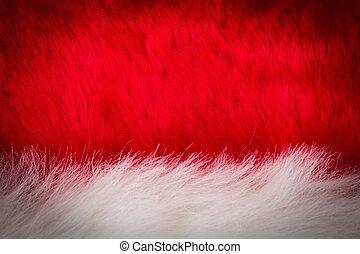blanc, fourrure, rouges