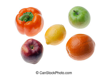 blanc, fruit, il, isolé