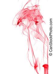 blanc, fumée, fond, rouges