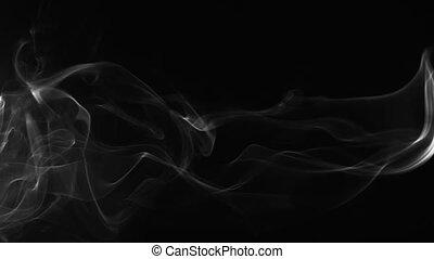blanc, fumée noire, fond