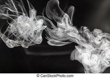 blanc, fumée