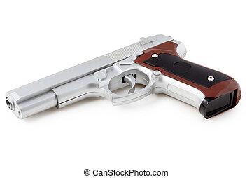 blanc, fusil, fond, isolé