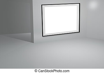 blanc, galerie, fond