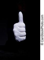blanc, gant, main