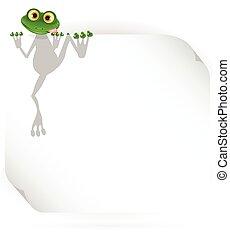 blanc, grenouille, fond